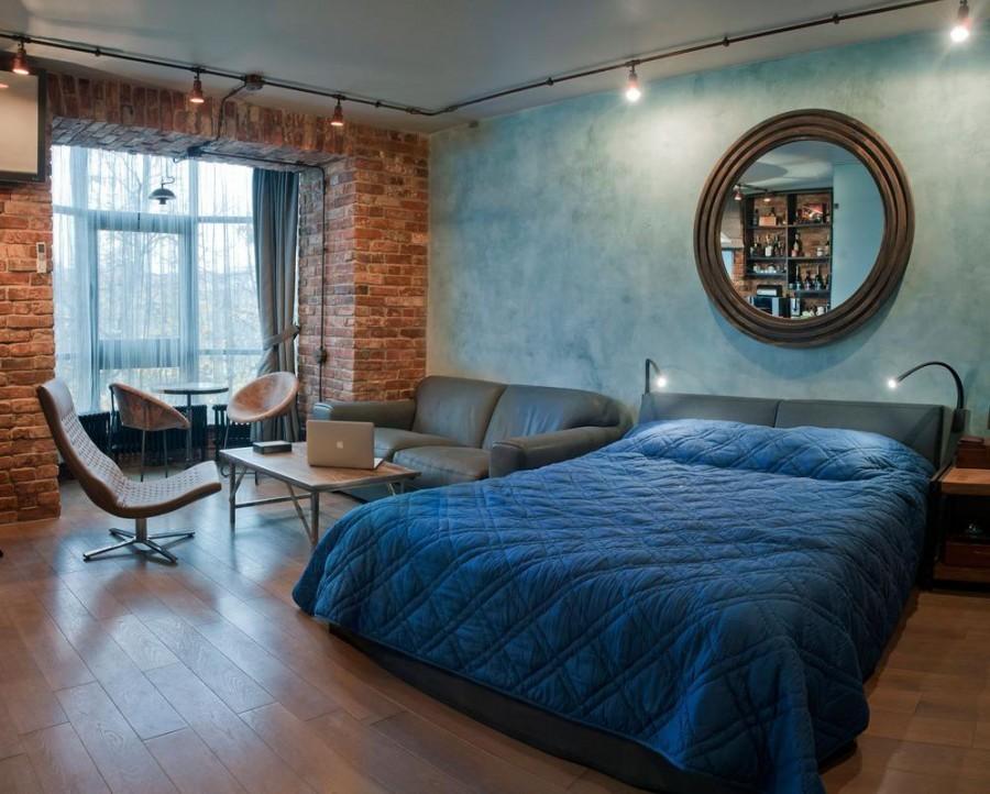 спальня 14 кв метров лофт