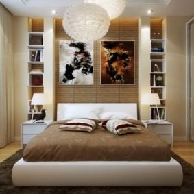 дизайн спальни 14 кв м выбор кровати