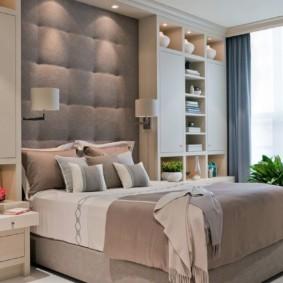 дизайн спальни 14 кв м многофункциональная мебель