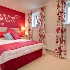 спальня 16 кв метров матовые стены