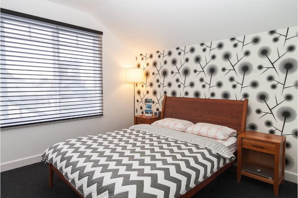 спальня 16 кв метров обои