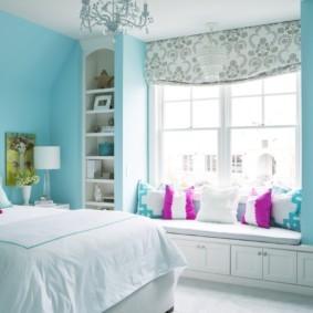 спальня 16 кв метров яркие оттенки