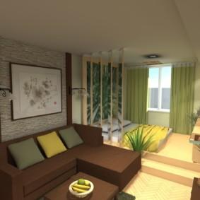 дизайн спальни гостиной 16 кв м идеи дизайн