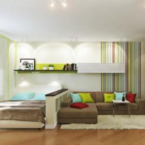 дизайн спальни гостиной 16 кв м идеи дизайна