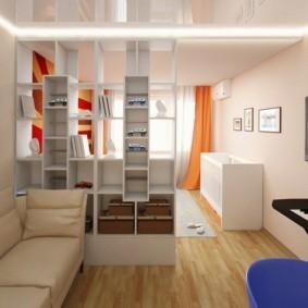 дизайн спальни гостиной 16 кв м фото декор