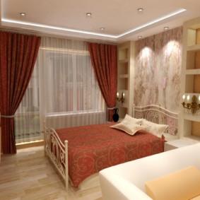 дизайн спальни гостиной 16 кв м фото декора
