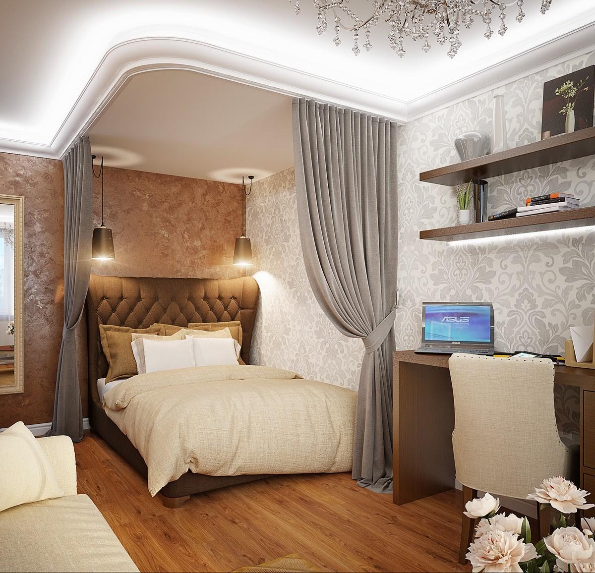 Дизайн комнаты спальня гостиная картинки