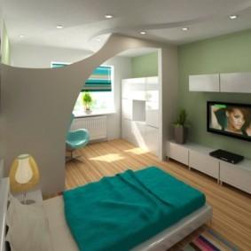 дизайн спальни гостиной 16 кв м идеи декор