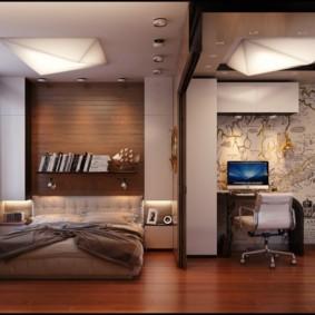 дизайн спальни гостиной 16 кв м идеи декора