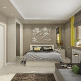 дизайн спальни гостиной 16 кв м интерьер
