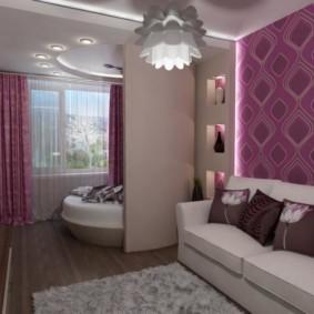 дизайн спальни гостиной 16 кв м интерьер фото