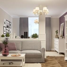 дизайн спальни гостиной 16 кв м фото интерьер