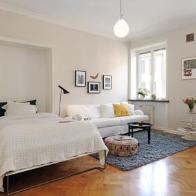 дизайн спальни гостиной 16 кв м фото интерьера