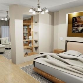 дизайн спальни гостиной 16 кв м интерьер идеи