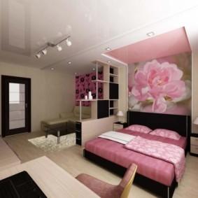дизайн спальни гостиной 16 кв м идеи интерьера