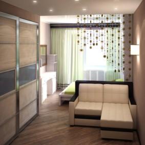 дизайн спальни гостиной 16 кв м варианты