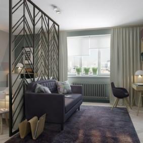дизайн спальни гостиной 16 кв м варианты фото