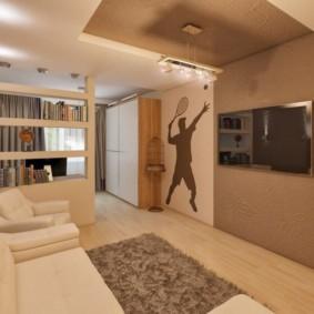 дизайн спальни гостиной 16 кв м варианты идеи