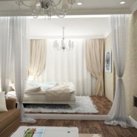 дизайн спальни гостиной 16 кв м виды