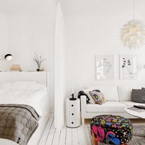 дизайн спальни гостиной 16 кв м фото видов
