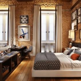 дизайн спальни гостиной 16 кв м виды идеи