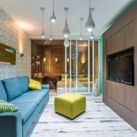 дизайн спальни гостиной 16 кв м идеи видов