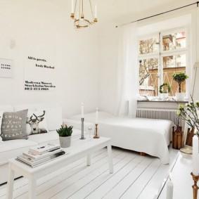 дизайн спальни гостиной 16 кв м обзор фото