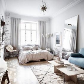 дизайн спальни гостиной 16 кв м фото обзоры