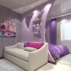 дизайн спальни гостиной 16 кв м фото идеи