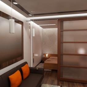 дизайн спальни гостиной 16 кв м дизайн фото