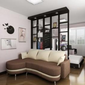 дизайн спальни гостиной 16 кв м фото дизайн