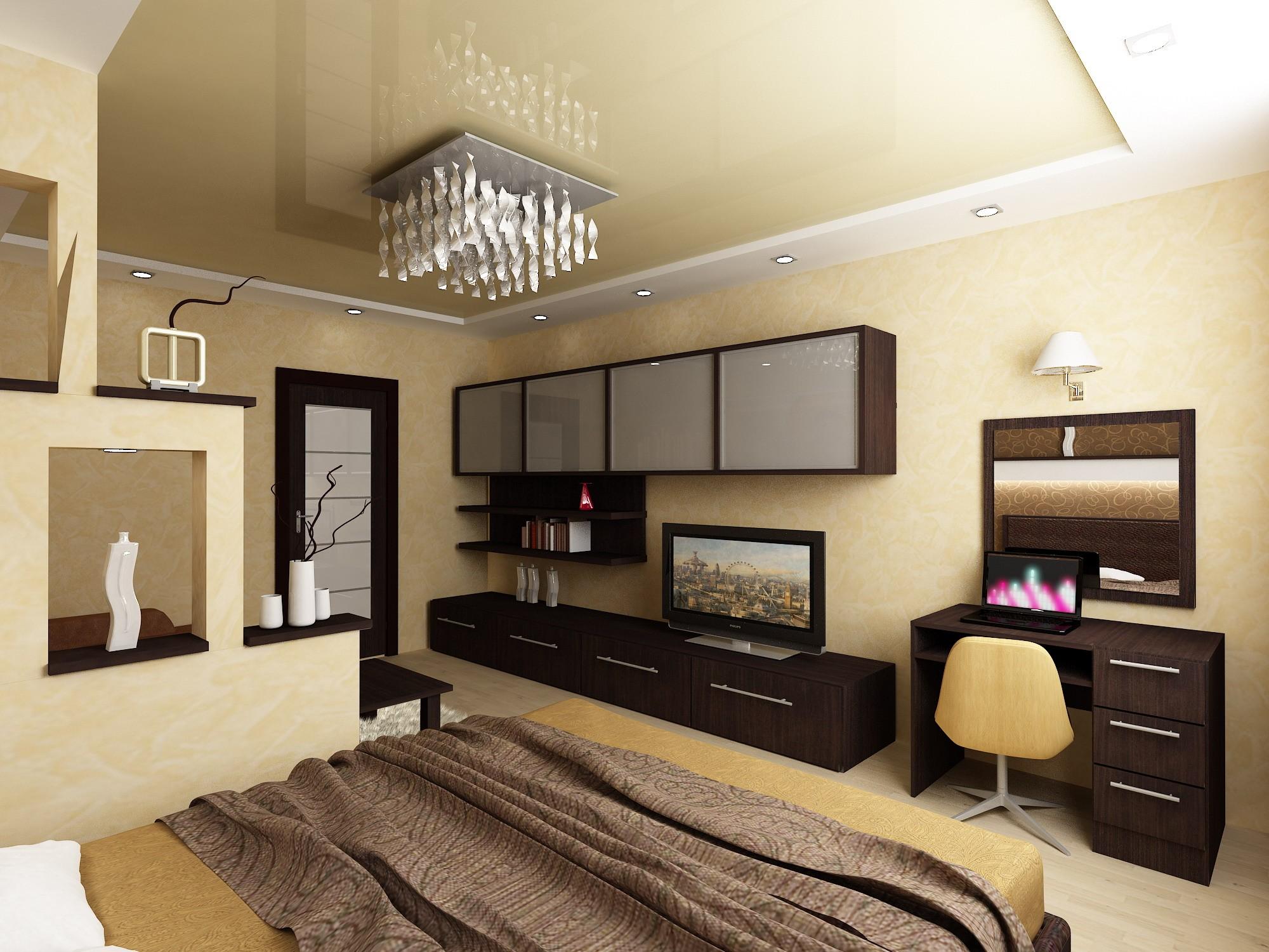 дизайн спальни гостиной фото идеи