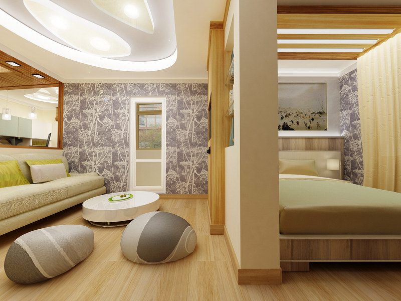 дизайн спальни гостиной варианты