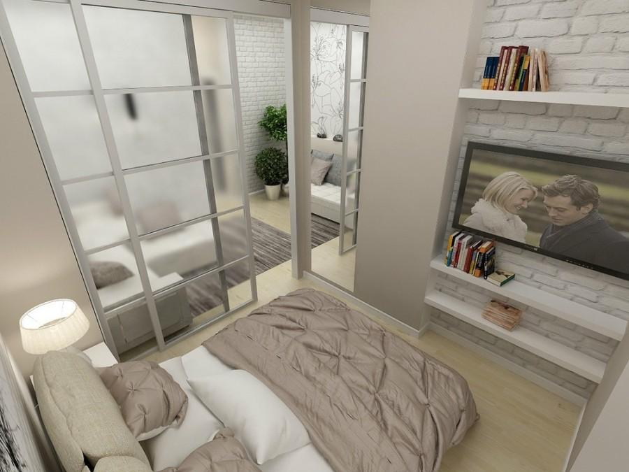 дизайн спальни гостиной 16 кв м идеи