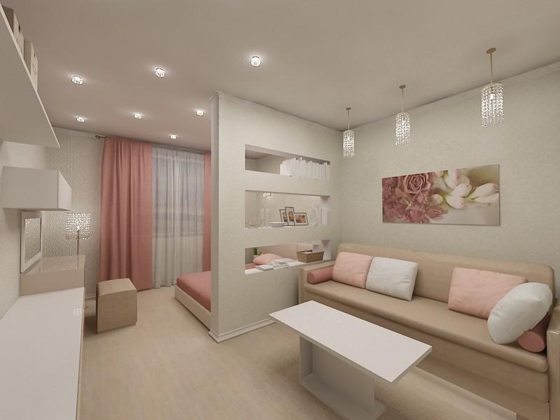 спальня гостиная 16 кв