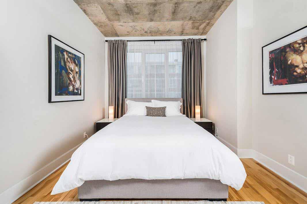 спальня 16 кв метров с ламинатом