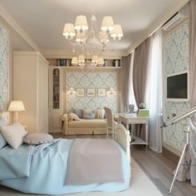 современная спальня в светлых тонах варианты