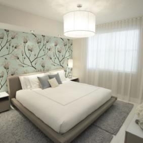 современная спальня в светлых тонах виды декора