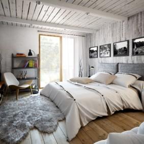 современная спальня в светлых тонах