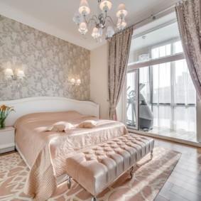 современная спальня в светлых тонах фото оформление