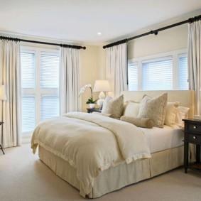 современная спальня в светлых тонах идеи декора