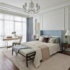 современная спальня в светлых тонах идеи декор