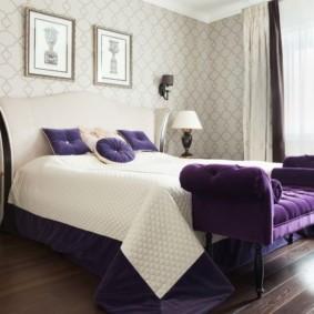современная спальня в светлых тонах декор фото