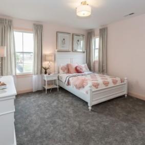 современная спальня в светлых тонах идеи дизайн