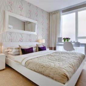 современная спальня в светлых тонах дизайн идеи
