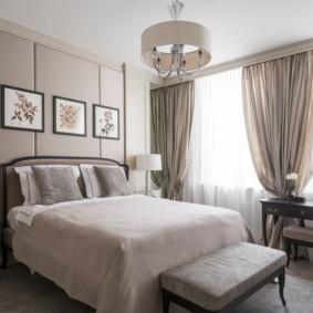 современная спальня в светлых тонах дизайн фото