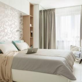 современная спальня в светлых тонах дизайн