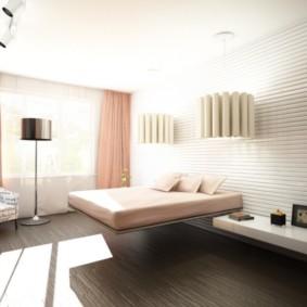 современная спальня в светлых тонах идеи