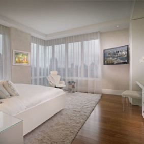 современная спальня в светлых тонах фото видов