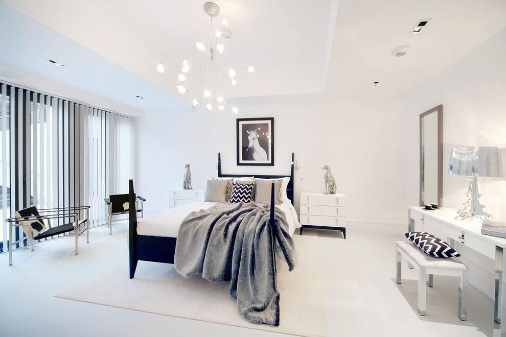 дизайн светлой спальни минимализм